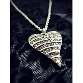 Diamante Heart Pendant