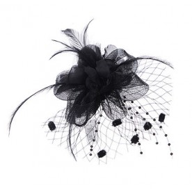 Black Flower Hair Clip/Brooch