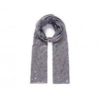 Grey Unicorn Metallic Foil Print Scarf