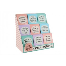 Cheeky Bubbles Wooden Coasters