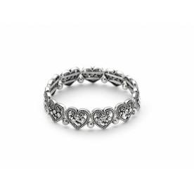 Antique Silver Finished Heart Bracelet