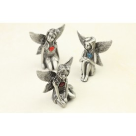 Pewter Birthstone Fairy with Glitter Wings