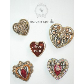 Assorted Heart Magnet Set
