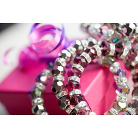 "Crystal Rondelle Bracelet - ""Signature"""